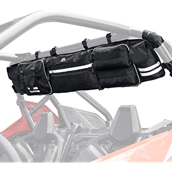 Most Full Size UTVs Honda Pioneer UTV Roll Cage Organizer KEMIMOTO Roll Cage Cargo Rear Storage Bag Gear bags with Reflective Strip Replacement for Polaris Ranger RZR