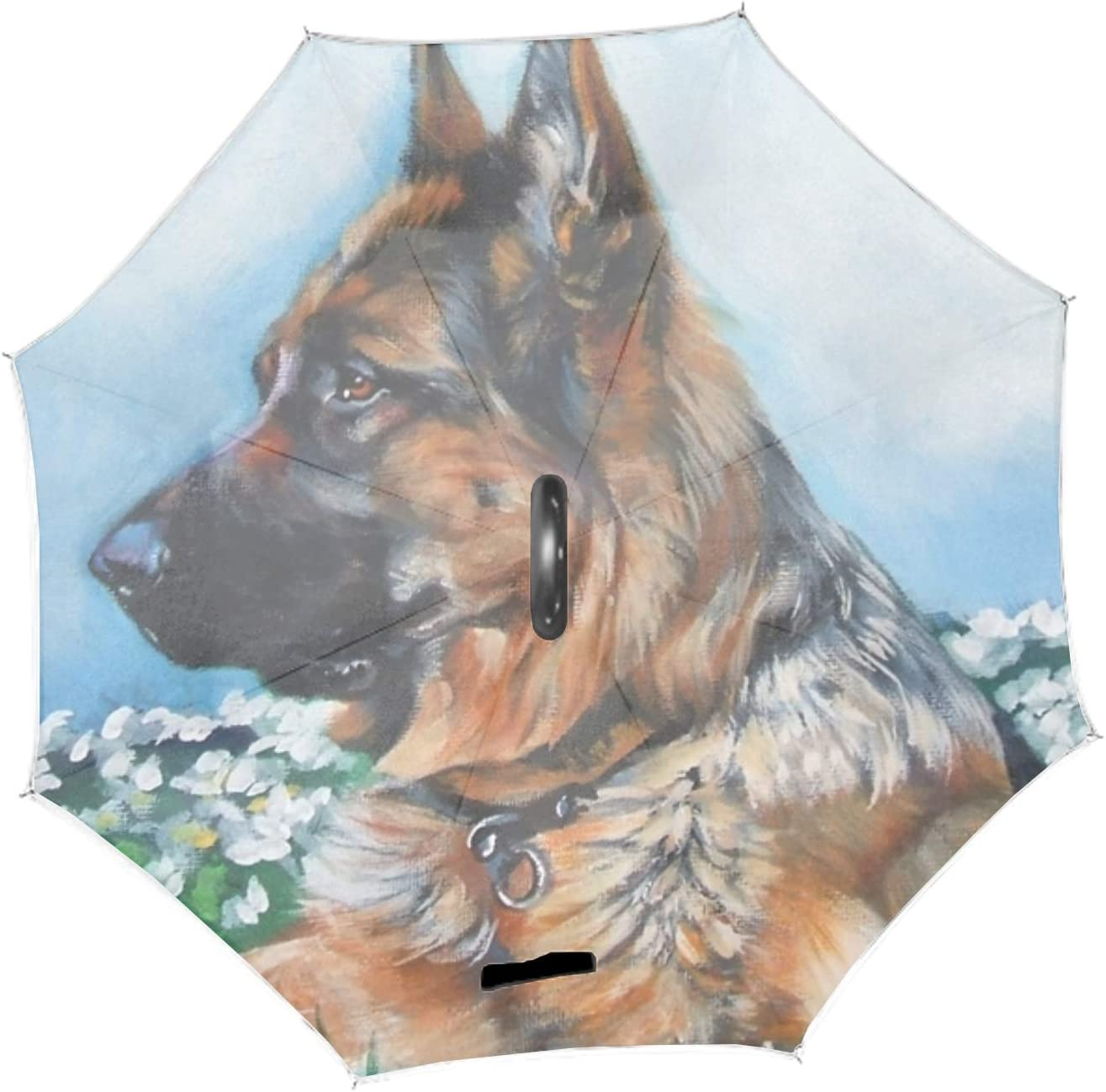 Double Layer Inverted Umbrella German A surprise price is realized Art Windproof Shepherd wholesale Dog