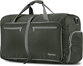 Gonex 60L Foldable Travel Duffel Bag Water & Tear Resistant, Dark Green
