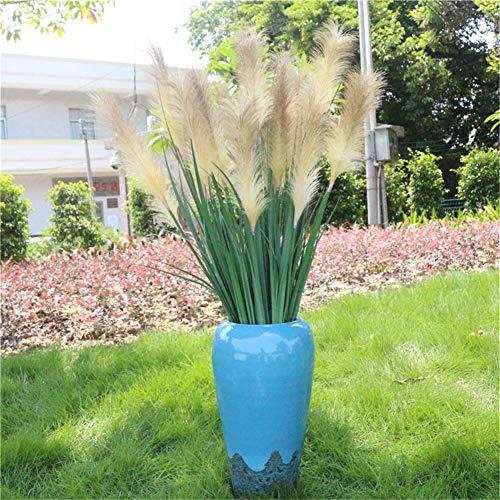Eazyhurry Künstlicher Schilfrohr, künstliche Pflanzen, Grünerei, Wohnzimmer, Balkon, Garten, DIY-Dekoration, beige, 2 Stück