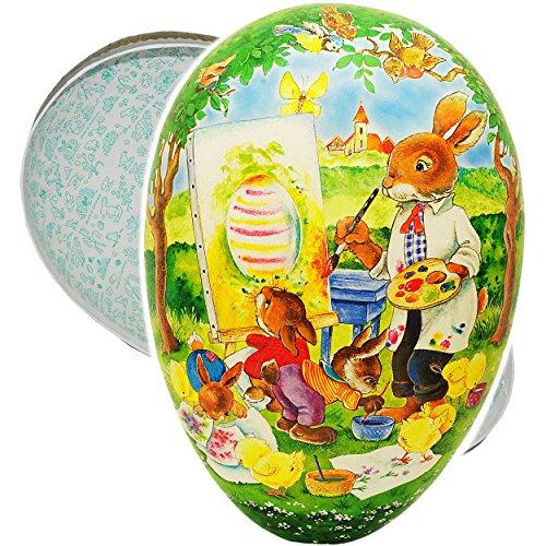 alles-meine.de GmbH XXL - Füll - Pappei 36 cm -  Hasenschule - Malschule für kleine Hasen  - Osterei / Ei zum Befüllen - Deko Pappe Papp Pappeier - Dekoei Pappostereier Füllen ..