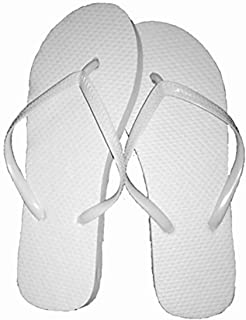 553adca6f8e Wholesale Ladies 72 Pairs Solid White Flip Flops