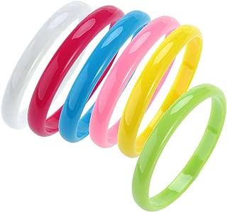 BESTOYARD Plastic Bangle Bracelets Candy Color Bracelet Party Favors Pack for Birthday Party 6pcs (Random Color)