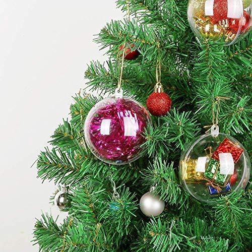 ZYCH Halloween 30 Arriba Transparente de Plástico Hueco Bola Esferas,5cm 6cm7cm Bolas de Navidad Decoración Colgante Boda del Árbol de la Bola para la Navidad Vestido de Fiesta Muñeca