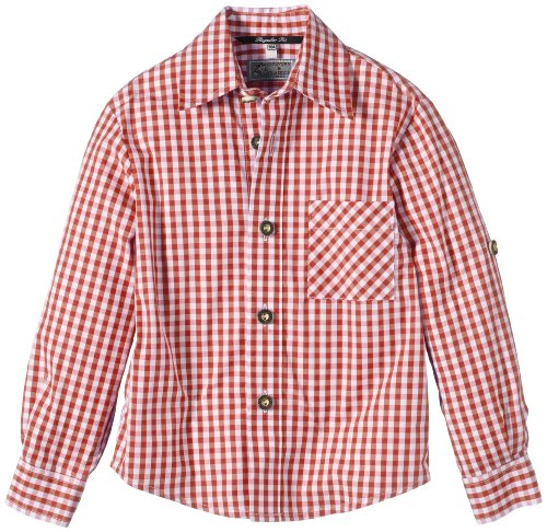NEW G.O.L. GmbH G.O.L. Jungen Hemd Trachtenhemd, Vichy-Karo, Gr. 176, Rot (rot/weiß 7)