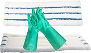 Mop Refill for O-Cedar (Pack of 2) with Free Gloves, Mops for Floor Cleaning, Dry and Wet Microfiber Pads for All Surfaces | Machine Washable, Quality Material, Perfect for Tile, Wood, Laminate