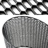 27404 汎用 ユーロ ハニカム メッシュ グリル ネット ブラック ABS樹脂 1200mm×395mm エアロ ダクト 等に SUN