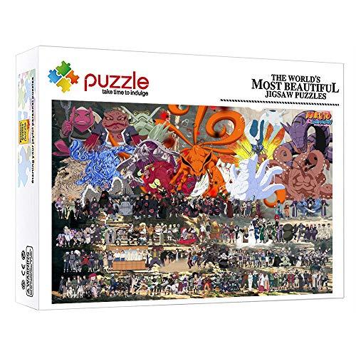 Puzzles Puzzle 1000 Piezas Dibujos Animados De Anime Naruto 1000 Piezas Jigsaw Puzzle Game para Adultos Niños Madera Juguetes para La Decoración De La Pared De La Casa 52 × 38 Cm
