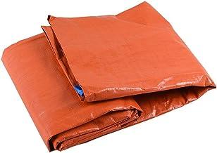 Zware zeildoek waterdicht zeildoek, waterdicht en regendicht oranje canvas, lichtgewicht en corrosiebestendig, (2.7x3.7m) ...