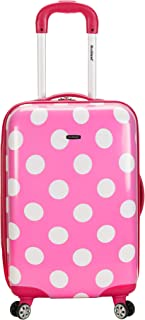 Luggage 20 Inch Polycarbonate Carry On, Pink Dot, One Size