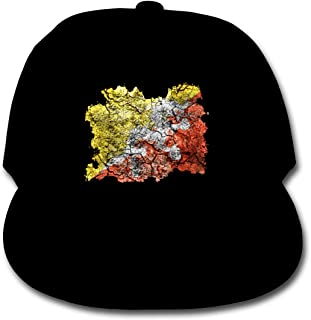 Bonshion Gorras de béisbol de Color sólido con Bandera de Bhután Sombreros Ajustables para Camionero para niña de niños Negros