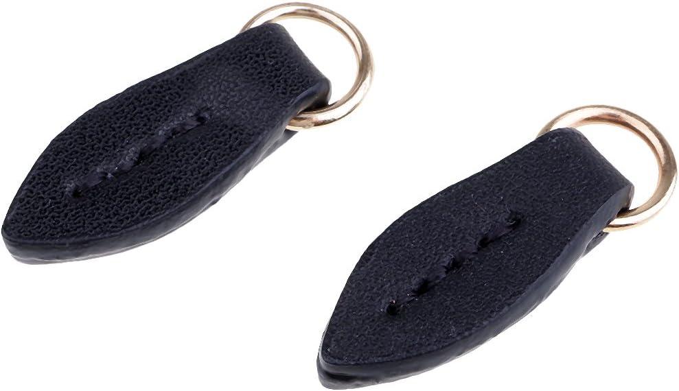 Brown B Blesiya 2Pcs DIY Leather Zipper Pull Boot Jacket Bag Purse Replacement Zipper Zip Fixer