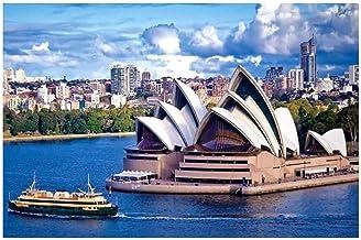 CNstory Mini Puzzles de 1000 Piezas en Miniatura DIYpara Adultos Sydney Opera House de cartón Resistente Desafío de Ejercicio Cerebral Juego de Alta dificultad Regalo para Niño 38*26cm