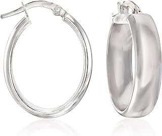 14kt oval hoop earrings