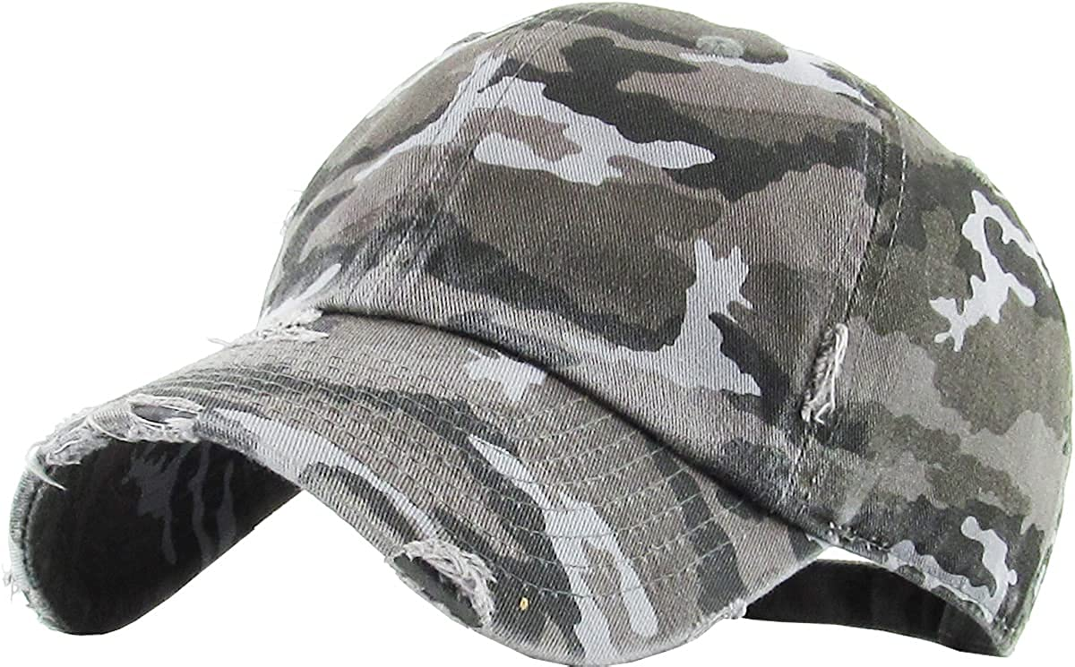 KBETHOS Kids Boys Girls Hats Washed Profile Cotton Max 44% OFF Low Popular brand Denim Pla
