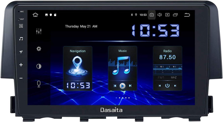 Dasaita Android 10.0 Car Stereo for Honda Civic 2016 2017 2018 2019 2020 2021 Radio with 9