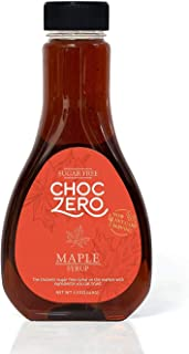 ChocZero Maple Syrup. Sugar Free, Low Carb, Sugar Alcohol Free, Gluten Free, No preservatives, Non-GMO. Dessert and Breakfast Topping Syrup. 1 Bottle(12oz) (2-Pack)