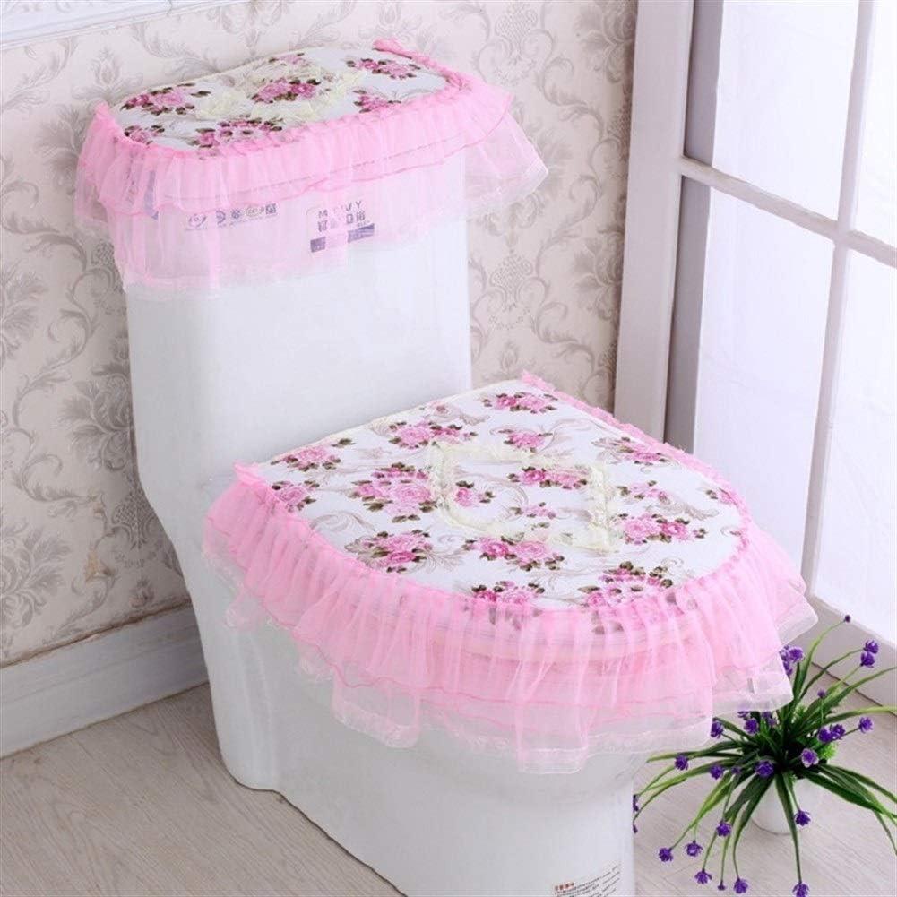 Color : Y30 1 Pizzo Bagno Toilet Seat Serbatoio di Acqua Coperchio Coperchio Superiore Pad Toilette Insieme a Tre Pezzi WBFN WC coprisedili