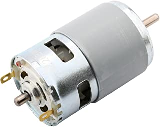 Yeeco DC 24V 12000RPM High Torque Electric Motor, High Speed Power Ball Bearing Electric Motor Output Shaft DC Motor Driver for DIY Parts