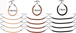 Women 15 Pack Ponytail Hooks Bungee Small Rubber Bands Hair Ties Accessories Elastic Holder Blonde Beige Styling Headbands Tools Claw Thick Hair Clips for Girl (5 Black + 5 Brown + 5 Apricot)