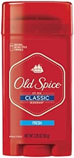 Old Spice Classic Deodorant Stick, Fresh 3.25 oz (Pack of 5)