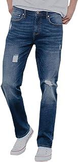 Rsq New York Slim Straight Dark Vintage Vintage Flex Ripped Jeans