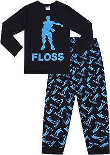 Unisex Floss Dance Gaming Black Blue Long Pajamas