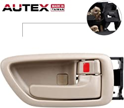 AUTEX Door Handle Interior Front/Rear Right Beige Compatible with Toyota Avalon 2000 2001 2002 2003 2004,Toyota Tundra 2004 2005 2006,Toyota Sequoia 2001 2002 2003 2004 2005 2006 2007 Passenger Side