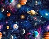 Little johnny Universum Planeten Galaxie Weltraum Digital