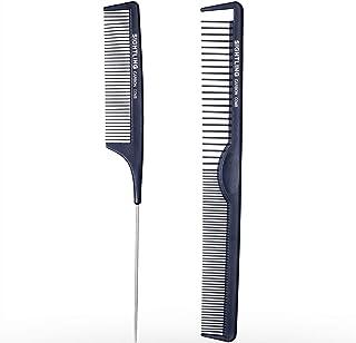 SIGHTLING Kit carbono Peluquería Peine Pelo Peine 100% antiestático 230 ℃ Resistente al calor peine de corte Peluquería Estilista de pelo peine de corte, juego de peluquería Peluquería Peine