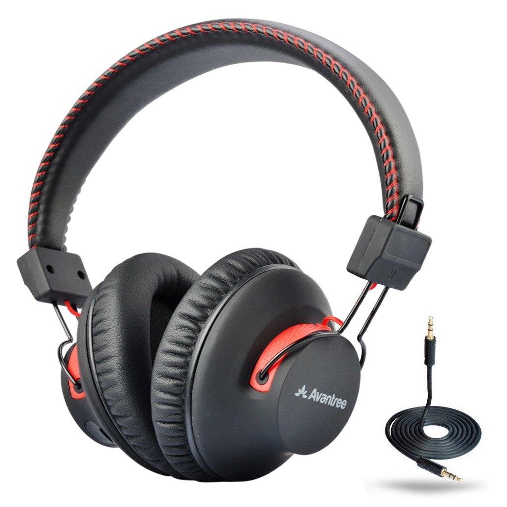 Avantree 40 Horas aptX Hi-Fi Auriculares Diadema Bluetooth Inalambricos para TV con micrófono, Over Ear Extra Cómodos y Ligeros, NFC, Inalámbrico/con Cable Modo Dual: Amazon.es: Electrónica