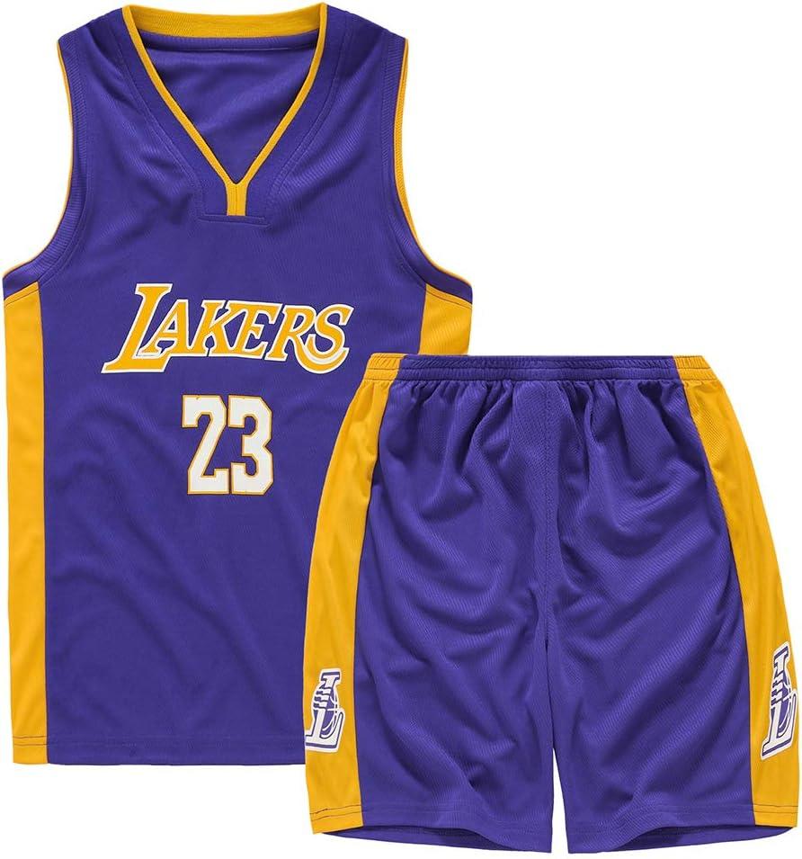 maillots de basket-ball pour l/ét/é Maillot de basket-ball pour enfant adulte Lakers Lebron James 23 Swinger