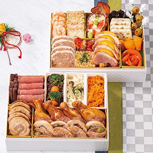 北海道 北のシェフ おせち料理 2021 洋風&肉料理オードブル 二段重 盛り付け済み 冷凍おせち 3人前〜4人前 お届け日:12月30日