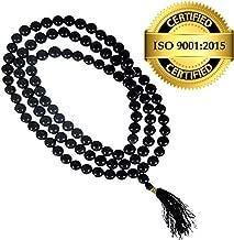 Astro Hub 108 Beads Agate Mala/Hakik Mala (Black)
