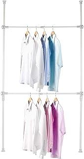 Garde-Robe Téléscopique Systèmes de Penderie Porte-Vêtements avec Barres Transversales Hauteur et Largeur Aajustable pour ...