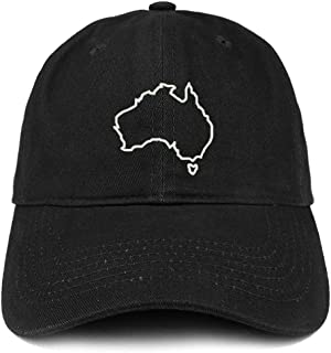 Australia Map Outline Embroidered Cotton Dad Hat