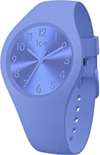 Ice-Watch - Ice Colour Lotus - Montre Bleue pour Femme avec Bracelet en Silicone - 017913 (Small)