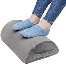 Ergonomic Foot Rest Cushion Under Desk with High Rebound Ergonomic Foam Non-Slip Half-Cylinder Footstool Footrest Ottoman ...
