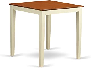 East West Furniture Counter Height Square Table, Buttermilk/Cherry Finish