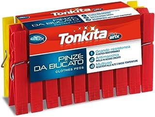 مشابك غسيل من تونكيتا، 20 قطعة، متعددة الالوان