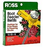 Ross Rose & Flowering Shrubs Fertilizer Refills for Ross Root Feeder, 15-25-10 (Ideal for Watering During Droughts), 12 Refills