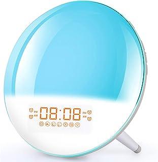 Smart Wake Up Light Alarm Clock - Sunrise Alarm Clock Bedside Night Light Supports WiFi, Sunrise/Sunset Simulation, 4 Alar...
