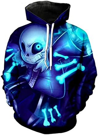 Undertale Sans Sweater Blue Cosplay Costumes Skull Hoodie Sweatshirt