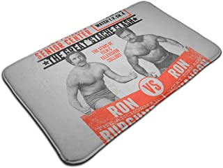 HUTTGIGH Superstar Wrestling Ron Swanson Vs Ron Borgoña Anchorman Parks and Rec - Felpudo antideslizante para puerta de ba...
