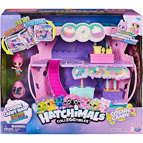 Hatchimals CollEGGtibles Cosmic Candy Shop 2-in-1-Spielset mit je 1 exklusiven Pixies und Hatchimals Sammelfigur