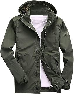 Men Hoodies Jacket Coat, Male Solid Long Sleeve Zipper Pocket Cowboy Slim Sweatshirt Outwear