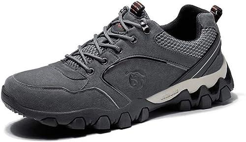 Hy Herren Wanderschuhe, Outdoor Atmungsaktive Reise Schuhe Student Slip-Ons Laufschuhe Wanderschuhe Klettern (Farbe   Grau, Größe   41)