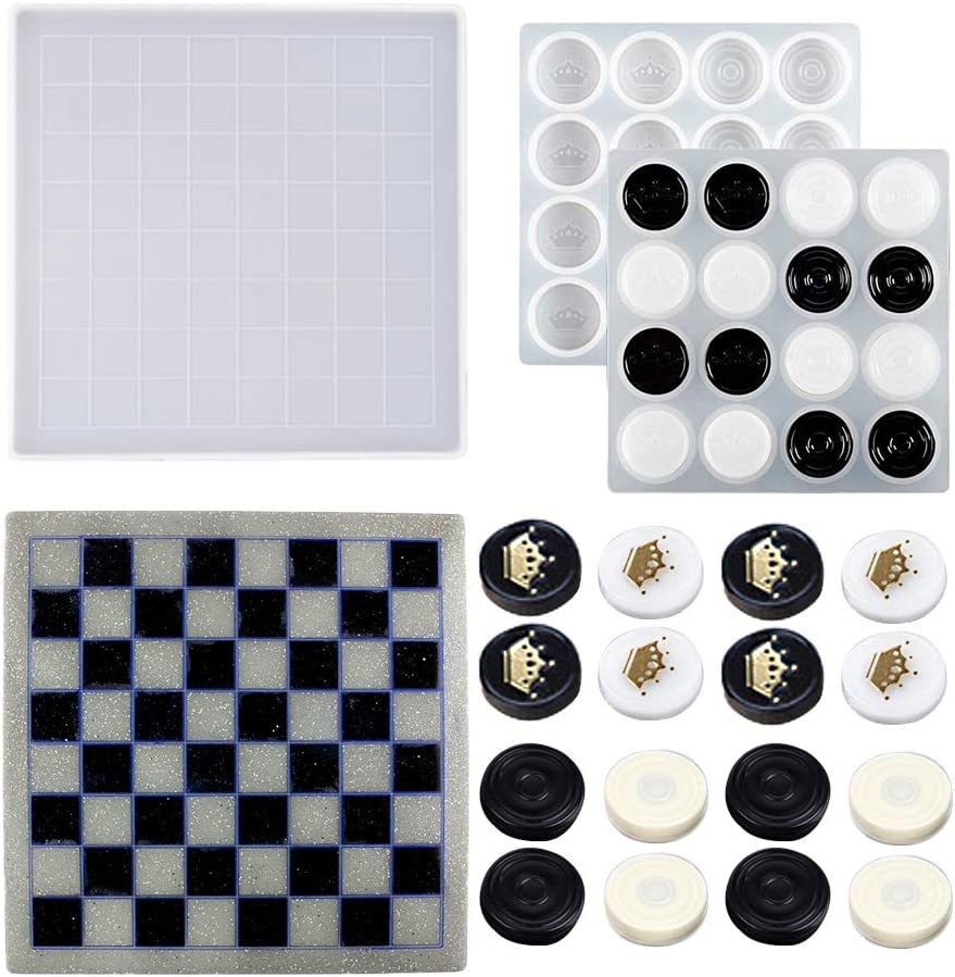 Chess free shipping Resin Molds Board Courier shipping free and with Pieces Silico Mold Epoxy