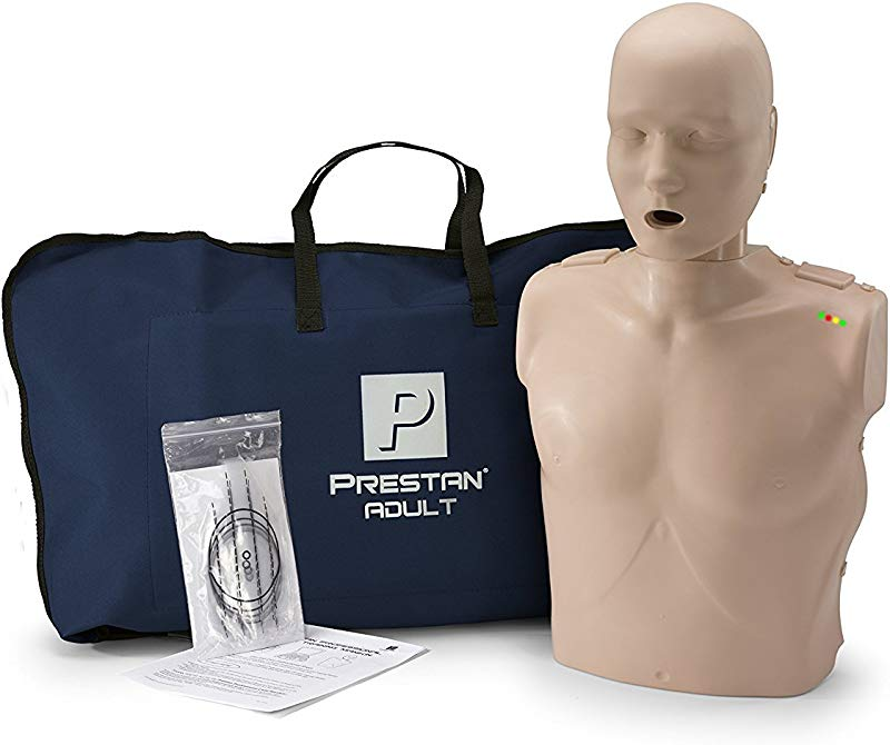 PRESTAN PP AM 100M MS Professional Adult CPR AED Training Manikin With CPR Monitor Medium Skin