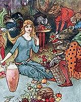 DMFNGJSD 数字油絵 フレームレス 、数字キット塗り絵 手塗り DIY絵-ガールフレンドと動物-デジタル油絵 40x50 cm